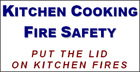 Kitchen Cooking Fire Safety  put the lid on kitchen fires